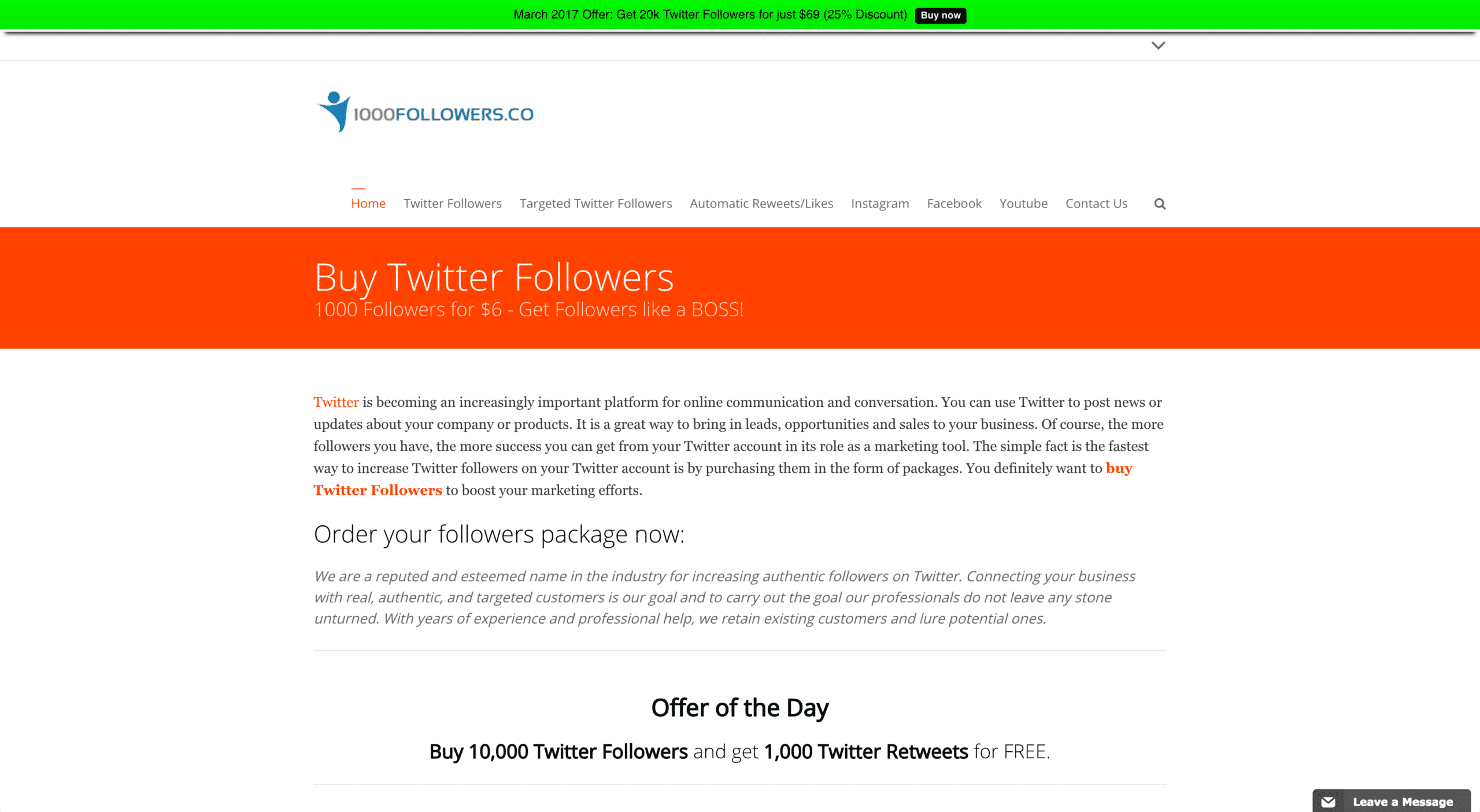 Buy1000Followers Reviews, Comparisons, & Test Results